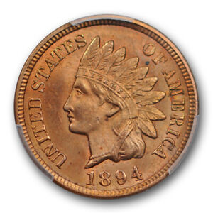 1894-1C-Indian-Head-Cent-PCGS-MS-64-RD-Uncirculated-Red-Better-Date-US-Coin