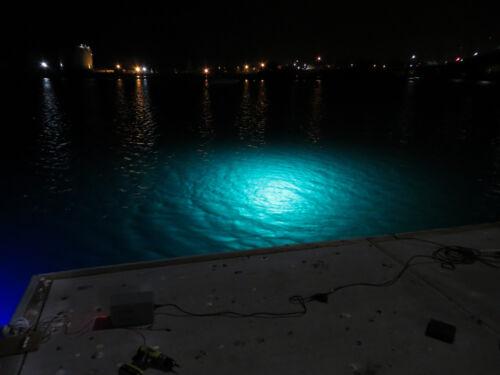 Aqua 1 75 watt 3400 Lumens Led Underwater dock light+1 waterproof transformer