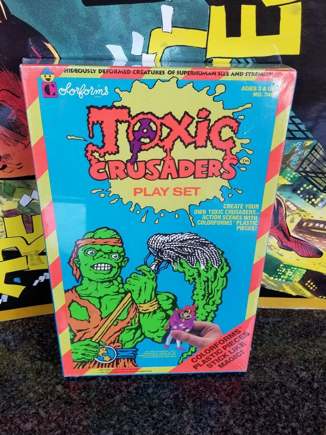 Vintage  Toxic Crusader colorforms Playset - SEALED 1991