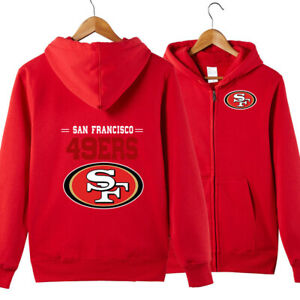 San-Francisco-49ers-Hoodie-jacket-Zip-Up-casual-coat-Sweatshirt-FAN-039-S-Gift