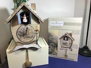 Thomas Kinkade Sound Cuckoo Clock Cuckoo Clocks Home & Kitchen