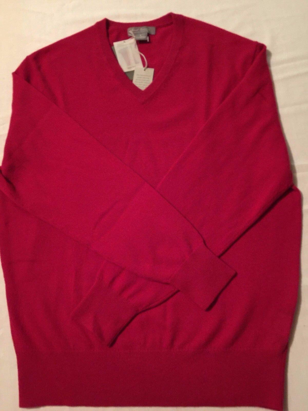 Daniel Cremieux Men's 100% Cashmere Sweater, ROT, Größe LG & XLG  NWT