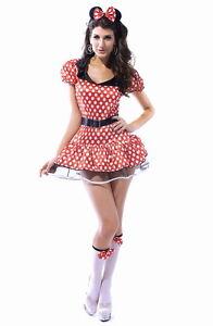 05b698a9a1b Minnie Mouse Dress Sexy Red White Polka Dot Tutu Halloween Costume ...