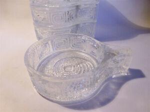 6-coole-Dessertschalen-Glasschaelchen-Nachtisch-Kompott-Pressglas