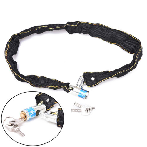 1pc Reinforced Metal Heavy Motorbike Motorcycle Bicycle Chain Lock With Key AA