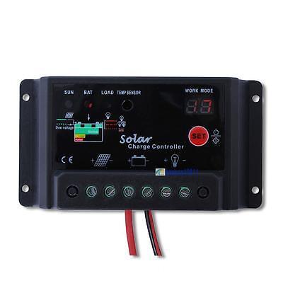 24V Solar Panel battery charge controller 10A amp 12V Solar PV system Black BOC