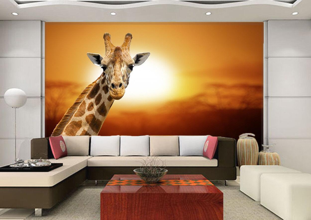3D Sonnenschein Giraffe 9963 Tapete Wandgemälde Tapeten Bild Bild Bild Familie DE Kyra | Online einkaufen  | Verrückte Preis  | Rabatt  581454