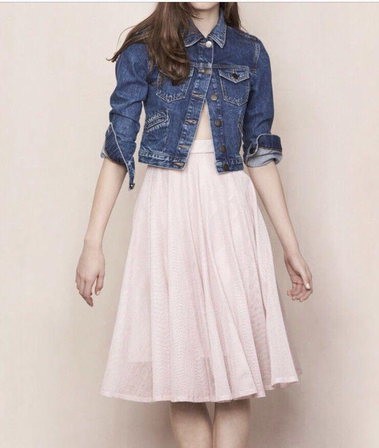 MAJE E16JALET JUPE LONGUE EN MES pink  A-Line Skirt Size 40 NWT US 8