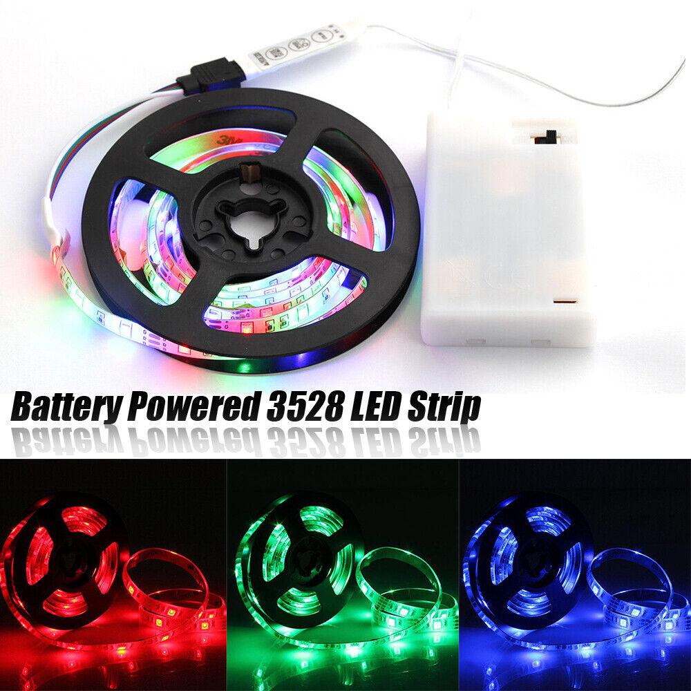 5V Battery Powered LED 3528 SMD RGB Strip Waterproof Flexible Strip Backlight j