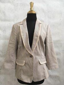 White-House-Black-Market-Striped-Cotton-Blazer-Jacket-Sz-10