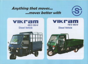 Suivi Des Vols Vikram 450 D Os-iv & 750 D Os-iv (made In India) _ 2018 Prospectus/brochure-afficher Le Titre D'origine