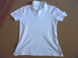 MEN-039-S-WHITE-COTTON-COLLAR-amp-SHORT-SLEEVE-POLO-STYLE-SHIRT-BY-KMART-SIZE-M