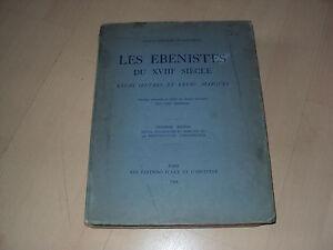 Details Sur Livre Les Ebenistes Du Xviiie Siecle