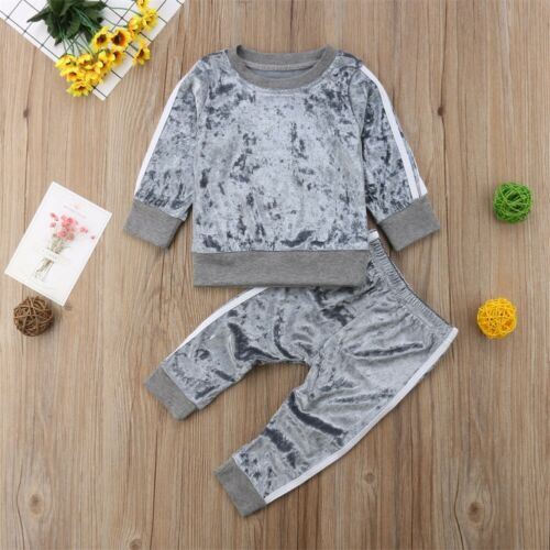 UK 2PCS Newborn Toddler Kids Baby Boys T-shirt Tops+Long Pants Tracksuit Clothes