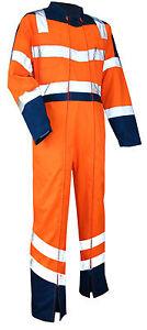 Combinaison-de-haute-visibilite-Vigilance-bleu-orange-LMA-en-S-M-L-XL-XXL-XXXL