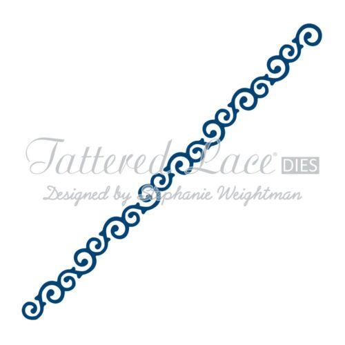 Tattered Lace Mini Troqueles-Aves-Vela-Feliz Cumpleaños-border-Troquelado
