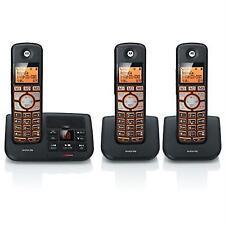 motorola dect 6 0 cordless big backlit button phone with 3 handsets rh ebay com Panasonic Cordless Phones DECT 6.0 Review Motorola L702bt