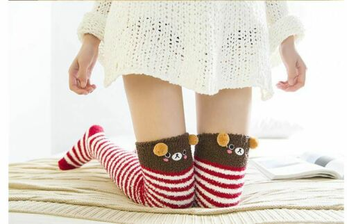 Kawaii Japanese Animal Printed Knee Socks Striped Cute Lovely Long Thigh High