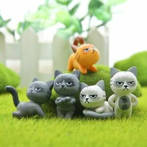 Modish-6Pcs-Set-Kawaii-Zakka-Cute-Unhappy-Cat-Doll-Diy-Mini-Cartoon-Figure-Toy