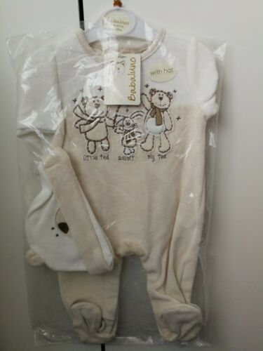3-6 Months With Matching Hat Babaluno Baby Grow Brand New with Tags