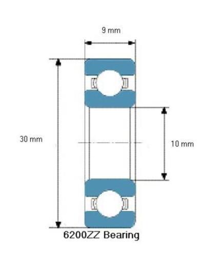 6200-2Z//C3 SKF Ball Bearing 6200 ZZ 10x30x9 mm deep groove ball bearing