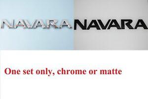 Brand-New-Rear-Tailgate-Badge-Chrome-or-Matte-Black-Navara