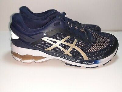 Asics Gel-Kayano 26 Wide Midnight Frosted Almond Women Running Shoe 1012A459-400