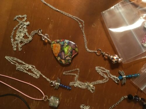 Crystals /& much more! 6 Handmade Necklaces Grab Bag-May include Seaglass