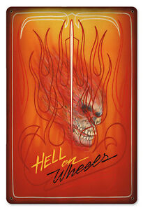 The-Original-Flamed-Pinstriped-Hell-On-Wheels-Heavy-Metal-Sign-12-034-x18-034-AWESOME