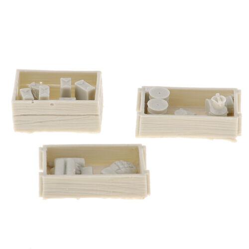 1//35 Food Supplies Case Modell unbemalt für Mini Sandtisch Militärszene