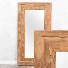 NEU Spiegel Wandspiegel Flur Bad Holz Rustikal Antik Vasto Braun gemasert 1,8