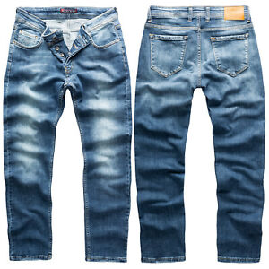 Rock-Creek-Jeans-Uomo-Pantaloni-Blu-Slim-Fit-Stonewashed-Jeans-Uomo-Denim-rc-2164