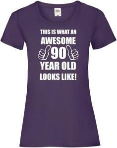 Image Is Loading 90th 90 Years Old Ninetieth Birthday Presents Womens