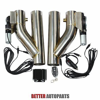 "2X 2.5/""Electric Exhaust Downpipe E-Cut Out Valve One CONTROLLER REMOTE KIT"