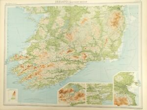 Map Of Waterford Ireland.Details About Map Of Southern Ireland 1922 Dublin Waterford Wicklow