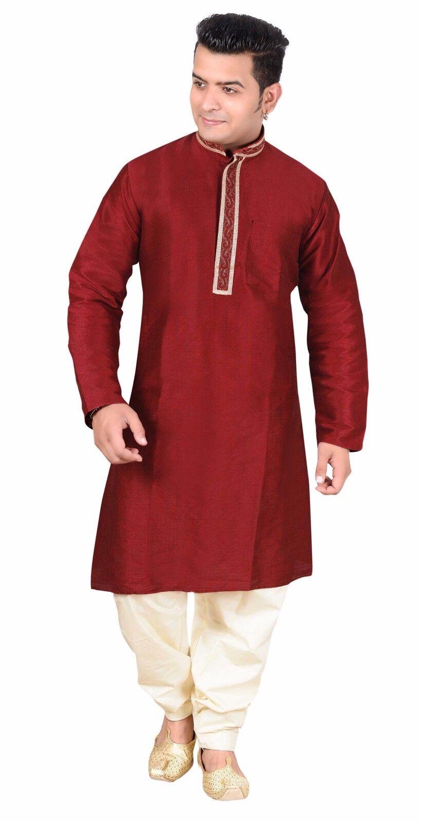 Herren ethnisch Indisch Smart Kurta Salwar Kameez Kameez Kameez Pyjama Partykleidung | Zahlreiche In Vielfalt  864610