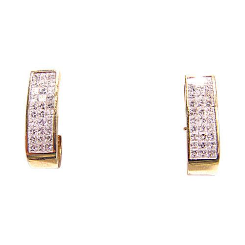 3 ROWS 30 PRINCESS CUT DIAMONDS EACH PAIR INVISIVBLE SET