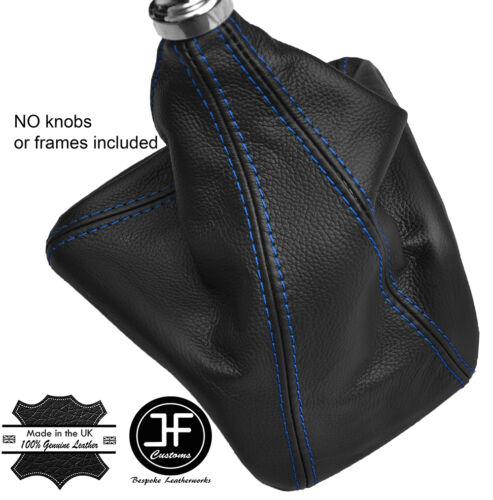 Bleu coutures manuel cuir gear gaiter fits ford transit custom 2013-2016