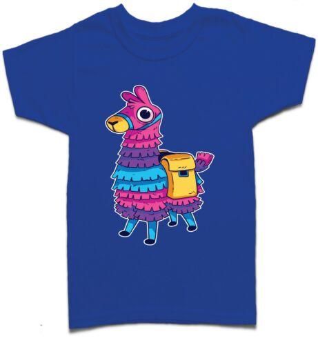 502G Gamer LLAMA Pinata BATTLE ROYALE Bambini Ragazzi Ragazze T Shirt