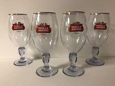 Stella Artois Acrylic 33 cl Chalice Glass BELGIUM Beer ~ Set Of Four (4) ~ NEW