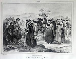 ARAGoN-HABITANTES-VALLES-HECHO-Y-ARZO-Lit-original-de-Parcerisa1839-186-HA