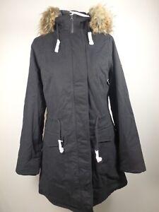 Schwarz 36 Damen Jacke Details Zu GrS Wld26290 Of Me Wintermantel Parker Mantel All 80wPkXOn