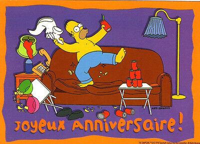Carte Postale The Simpsons 1998 Bart Homer Lisa Marge N 35 No Way Man Humour
