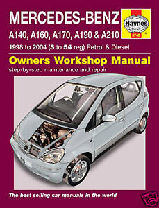 haynes manual mercedes a class a140 a160 a190 new 4748 ebay rh ebay co uk mercedes benz a160 workshop manual mercedes benz a160 owners manual