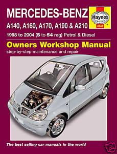mercedes a class w168 series a170 diesel haynes manual 4748 new ebay rh ebay com mercedes benz a class wiring diagram mercedes a class w168 wiring diagram
