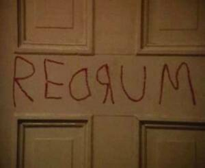 Image is loading THE-SHINING-REDRUM-MURDER-STEPHEN-KING-HORROR-DOOR- & THE SHINING REDRUM MURDER STEPHEN KING HORROR DOOR WALL DECAL ...