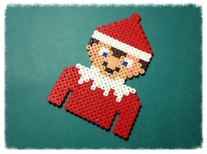 Christmas Hama Beads.Details About Christmas Elf Hama Bead Sprite Pixel Art Decoration
