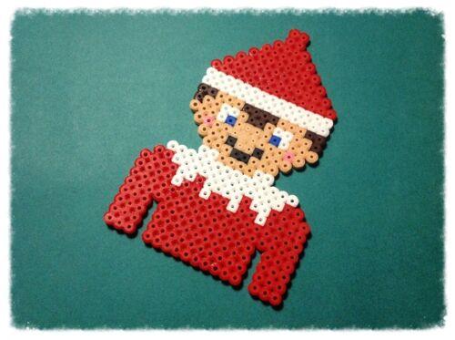 ** ~ noël elf ~ hama bead sprite-pixel art décoration ~ **