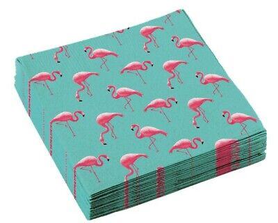 Pink Flamingo Spiaggia Hawaiano Estate Barbeque Festa Tropicale Servizio Da Tavola Tovaglioli-mostra Il Titolo Originale Eccellente (In) Qualità