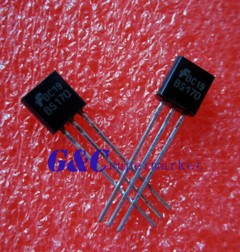 10PCS BS170 MOSFET N-CH 60V 500MA TO-92 FSC  NEW GOOD QUALITY TO1